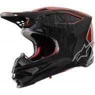 Alpinestars S-M10 Supertech Helmet Alloy Black/Orange/Red