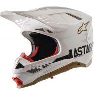 Alpinestars SM8 Squad LE Helmet White/Gold