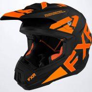 FXR 2022 Torque Team Helmet Black/Orange