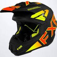 FXR 2022 Torque Team Helmet Black/Inferno