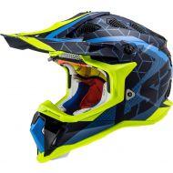 LS2 Subverter Straight Helmet Matte Light Blue/Dark Blue/Hi Viz