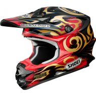 Shoei VFX-W Helmet Taka Red/Orange TC-1