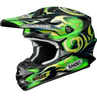 Shoei VFX-W Helmet Taka Green/Yellow TC-4