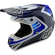 Troy Lee Designs SE4 Carbon Helmet Flash Blue/White
