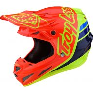 Troy Lee Designs SE4 Composite Helmet Silhouette Orange/Yellow