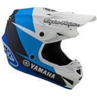 Troy Lee Designs SE4 Polyacrylite Yamaha L4 Helmet White/Blue