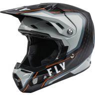 Fly Racing 2021 Formula Carbon Helmet Axon Black/Grey/Orange