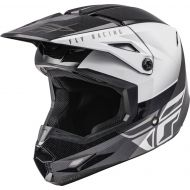 Fly Racing 2021 Kinetic Helmet Straight Edge Black/White