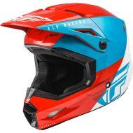 Fly Racing 2021 Kinetic Helmet Straight Edge Red/White/Blue