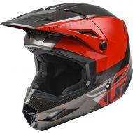 Fly Racing 2021 Kinetic Helmet Straight Edge Red/Black/Grey