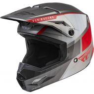 Fly Racing 2022 Kinetic Drift Helmet Charcoal/Light Grey/Red