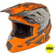 Fly Racing 2018 Toxin Mips Youth Helmet Matte Orange/Khaki