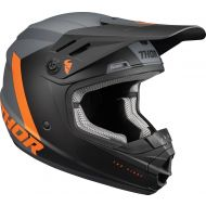 Thor 2022 Sector Chev Youth Helmet Charcoal/Orange