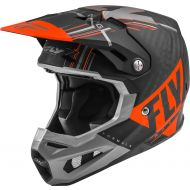 Fly Racing 2020 Formula Carbon Youth Helmet Vector Matte Orange/Grey/Black
