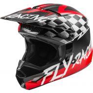 Fly Racing 2020 Kinetic Sketch Youth Helmet Red/Black/Grey
