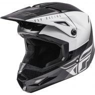 Fly Racing 2021 Kinetic Youth Helmet Straight Edge Black/White