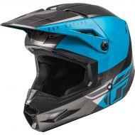 Fly Racing 2021 Kinetic Youth Helmet Straight Edge Blue/Grey/Black
