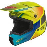 Fly Racing 2022 Kinetic Drift Youth Helmet Blue/Hi-Vis/Charcoal