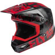 Fly Racing 2022 Kinetic Scan Youth Helmet Black/Red