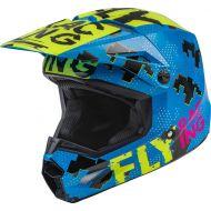 Fly Racing 2022 Kinetic Scan Youth Helmet Blue/Hi-Vis/Pink