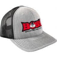 Bobs Cycle Supply Logo Trucker Snapback Cap Gray
