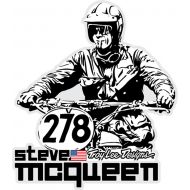 Troy Lee Designs Mcqueen Sticker Decal Mcqueen