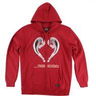 FMF Love this Sound Zip Sweatshirt Red