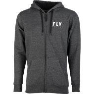 Fly Racing Logo Zip-Up Sweatshirt Charcoal