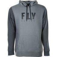 Fly Racing Badge Hoodie Sweatshirt Grey