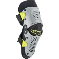 Alpinestars SX-1 Youth Knee Pads Pair Silver/Fluo Yellow