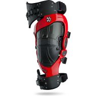 Asterisk Cell Knee Brace Pair Red