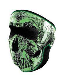 Zan Headgear Full Face Neoprene Mask Skull Glow In The Dark