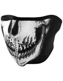 Zan Headgear Half Face Neoprene Mask Skull Glow In The Dark