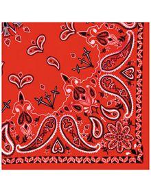 Zanhead Bandana 22X22 Red Paisley