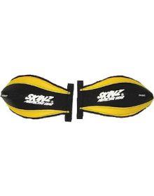 Skinz Snowmobile Heat Loc Pro Series Handguards Black/Yellow