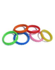 Ride-On Rubber Wristband Knobby Tire Pink