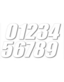 One Industries SX Numbers 6 Inch - 3 Pack White