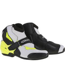 Alpinestars SMX-1R Vented Boots Black/White/Yellow