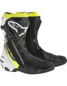 Alpinestars Supertech R Vented Boots Black/White/Yellow