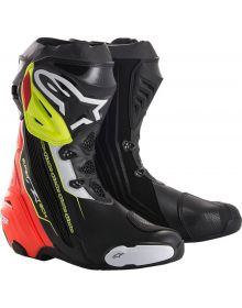 Alpinestars Supertech R Boots Black/Red/Yellow Fluo