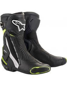 Alpinestars SMX-Plus V2 Vented Boots Black/White/Fluorescent Yellow