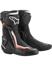Alpinestars SMX-Plus V2 Vented Boots Black/White/Fluorescent Red