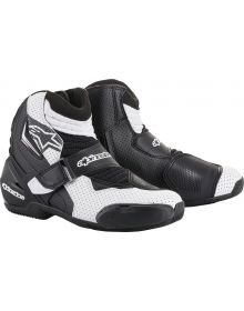 Alpinestars SMX-1 R Vented Boots Black/White with Graphic