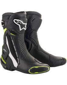 Alpinestars SMX-Plus V2 Boots Black/White/Fluorescent Yellow