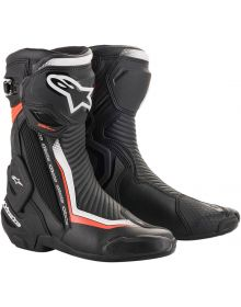 Alpinestars SMX-Plus V2 Boots Black/White/Fluorescent Red