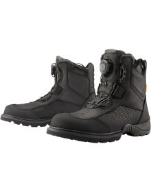 Icon Stormhawk Waterproof Boots Black