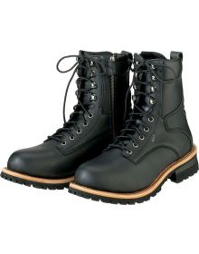 Z1R M4 Water Proof Leather Boots Black