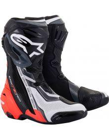 Alpinestars Supertech R v2 Vented Boots Black/Red Fluo/White/Gray