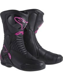 Alpinestars Stella SMX-6 V2 Womens Vented Boots Black/Pink/White