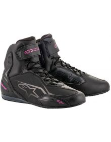 Alpinestars Stella Faster-3 Womens Riding Shoe Black/Fuchsia